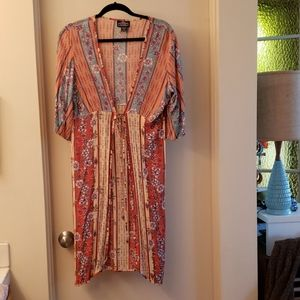 Angie Kimono-Style Top Tunic Cover-Up